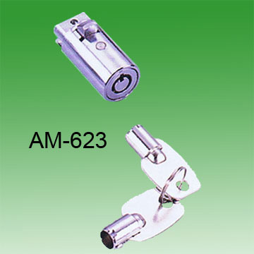 Round flush plunger lock