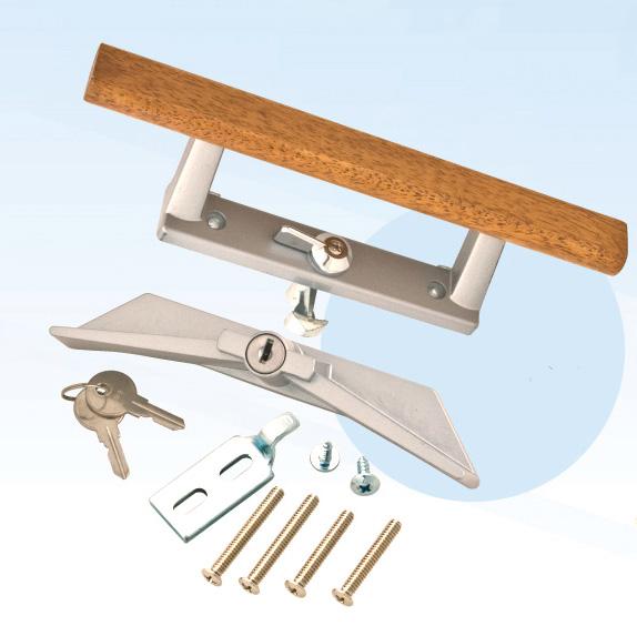 Sliding door handle lock